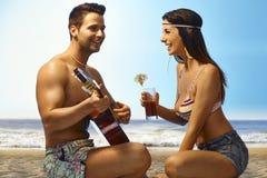 Vacaciones de verano románticas Imagen de archivo libre de regalías