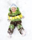 Vacaciones del invierno de la muchacha Fotos de archivo