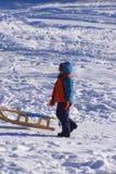 Vacaciones del invierno del niño Fotos de archivo