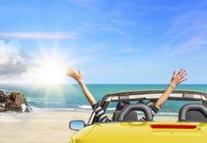 Vacaciones del viaje del coche del verano fotografía de archivo