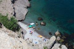 Vacaciones en la costa Foto de archivo libre de regalías