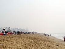 Vacaciones en la playa del mar de Puri, Odisha Imagen de archivo libre de regalías