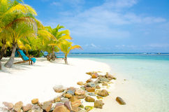 Vacaciones en la playa del paraíso Foto de archivo libre de regalías