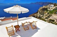 Vacaciones en Santorini Fotografía de archivo libre de regalías