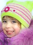 Vacaciones felices del invierno de la muchacha fotografía de archivo