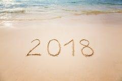 Vacaciones 2018 o Año Nuevo 2018 Imagen de archivo