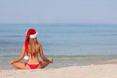 Vacaciones relajantes de la Navidad de la playa fotografía de archivo