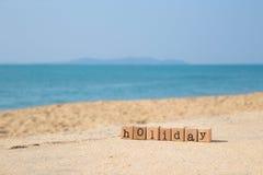Vacaciones soleadas de la playa Fotografía de archivo libre de regalías
