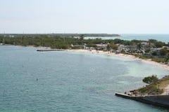 Vacaciones tropicales de Bahia Honda Beach Florida Keys Foto de archivo libre de regalías