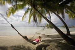 Vacaciones tropicales - Polinesia francesa Foto de archivo libre de regalías