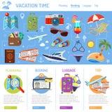 Vacaciones y turismo Infographics Fotografía de archivo libre de regalías