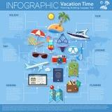 Vacaciones y turismo Infographics Fotos de archivo libres de regalías