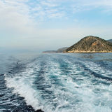 À la mer Égée. image stock