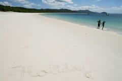 Vacances à la plage Image stock