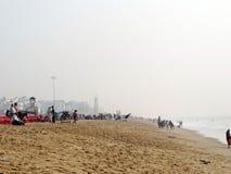 Vacances à la plage de mer de Puri, Odisha image libre de droits