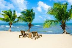 Vacances à la plage de paradis Photos stock