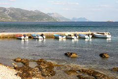 Vacances adriatiques de côte Photographie stock