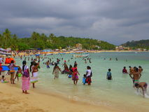Vacances au bord de la mer Images libres de droits