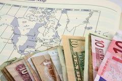 Vacances avec de l'argent Image libre de droits