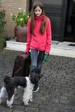Vacances avec le chien Photographie stock libre de droits