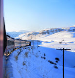 Vacances avec le train Photographie stock libre de droits