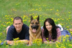 Vacances avec un animal familier Photos libres de droits