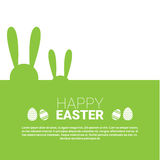 Vacances Bunny Symbols Greeting Card de Pâques de lapin Image stock