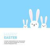 Vacances Bunny Symbols Greeting Card de Pâques de lapin Images libres de droits