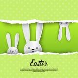 Vacances Bunny Symbols Greeting Card de Pâques de lapin Photographie stock