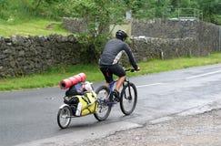 Vacances campantes de cycle Photo stock