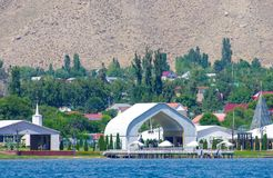 Vacances d'été au Kirghizistan près du lac Issyk-Kul photo libre de droits