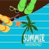 Vacances d'été aux week-ends illustration de vecteur