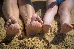 Vacances d'été avec l'enfant photographie stock