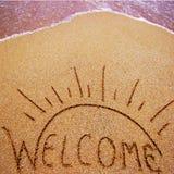 Vacances d'été bienvenues Image stock