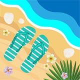 Vacances d'été Bord de la mer de plage Bascules électroniques Illustration de vecteur Illustration Libre de Droits