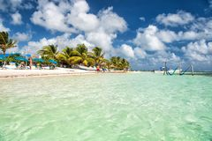 Vacances d'été, concept de déplacement Maya de côte, Mexique Image stock