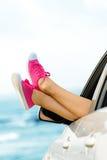 Vacances d'été dans le concept de voiture Photos libres de droits
