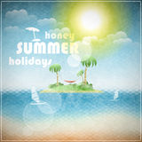 Vacances d'été de miel Images stock