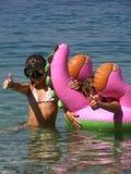 Vacances d'été en mer image libre de droits