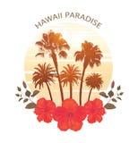 Vacances d'été et fond de palmier Impression pour le T-shirt illustration de vecteur
