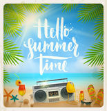 Vacances d'été et illustration de vacances Photo stock