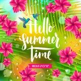 Vacances d'été et illustration de vacances Photographie stock