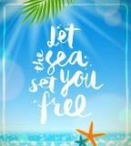 Vacances d'été et illustration de vacances Image stock