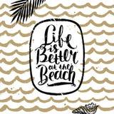 Vacances d'été et illustration tirée par la main de vacances Photo stock