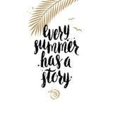 Vacances d'été et illustration tirée par la main de vacances Photographie stock
