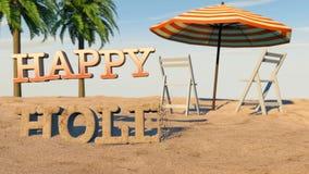 Vacances d'été heureuses illustration libre de droits
