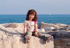 Vacances d'été par la mer Image stock