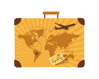 Vacances d'été, valise Photo stock