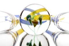 Vacances d'abstraction de lumière de miroir en verre photos stock