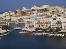 Vacances d'Agios Nikolaos Crete Greece image stock